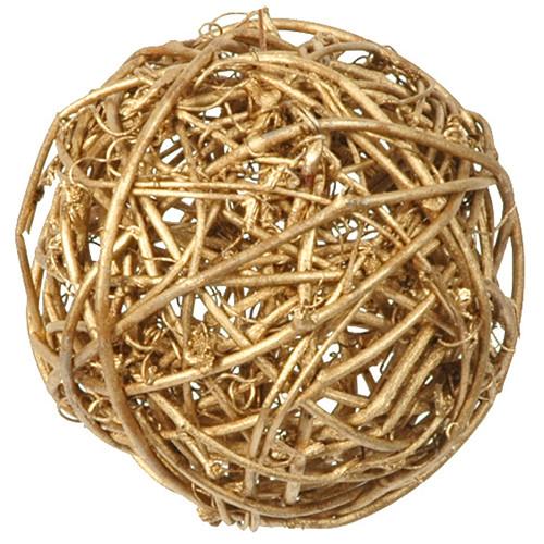 Rattankugeln (10 Stück) 3, 4 & 7 cm - gold