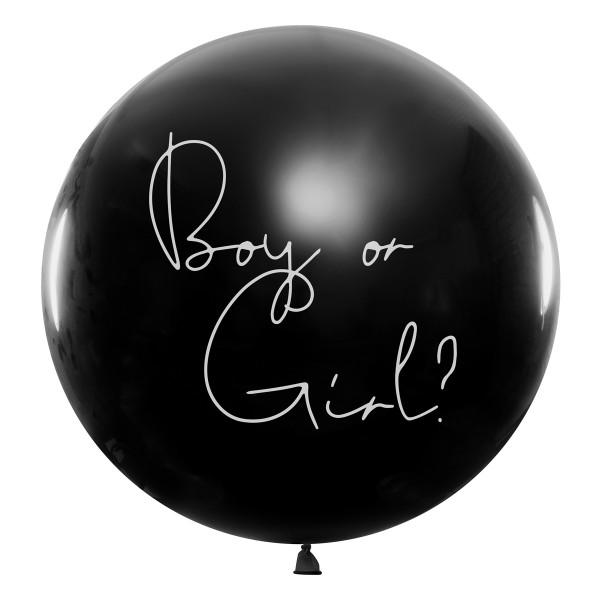 Luftballon 'Boy or Girl?' Hellblaues Konfetti - 100 cm