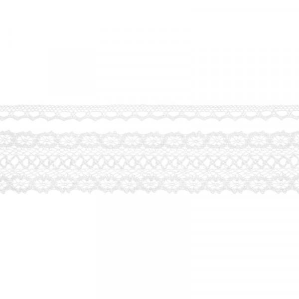 Dekoband Spitze weiß 1,5 m (2 Stück)