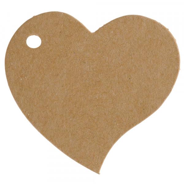 Anhänger / Tischkärtchen Herz (10 Stück) - kraft