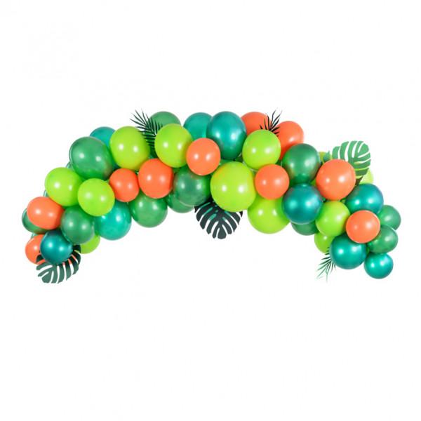 Ballon Girlande / Bogen 60 Stück 200 cm - Dinosaurier / Jungle
