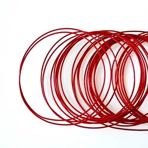 Basteldraht / Dekodraht 2 mm rund 12 m - Rot