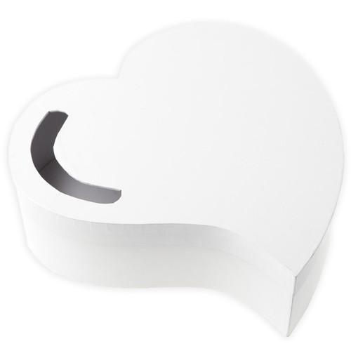 Briefbox / Geschenkbox Herz 29 cm - weiß