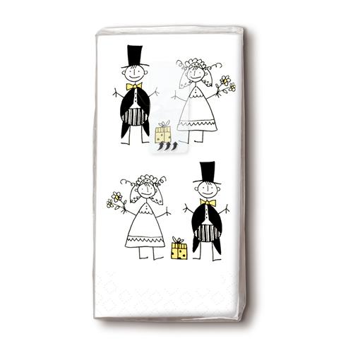 Taschentücher 'Brautpaar' 10 Stück