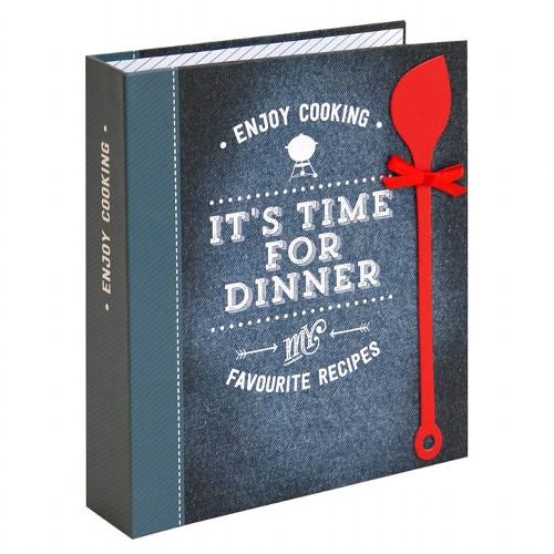 Rezeptordner / Rezeptbuch 'It's time for Dinner' DIN A5