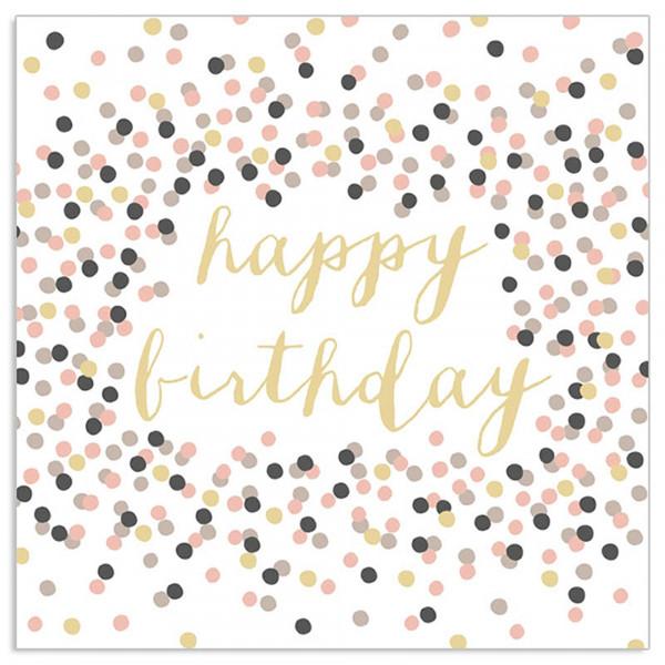 Servietten 'Happy Birthday Konfetti' (20 Stück)