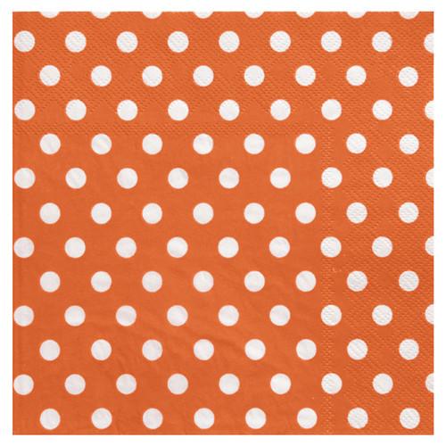 Servietten Dots / Punkte (20 Stück) - orange