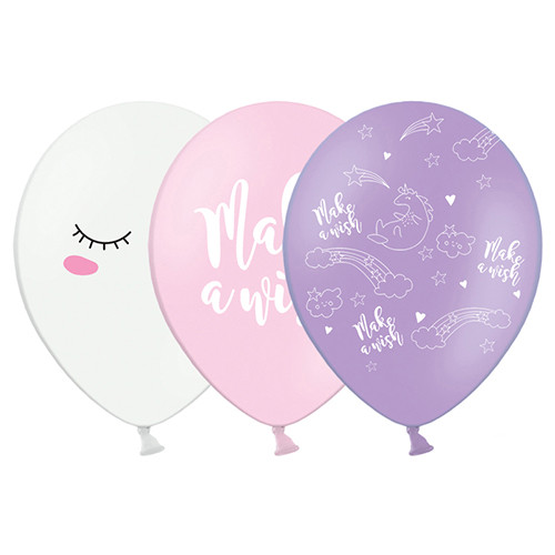 Einhorn Party Luftballons (6 Stück) 30 cm