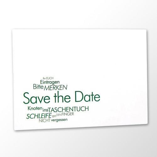 Save the Date Karte Hochzeit - Textwolke