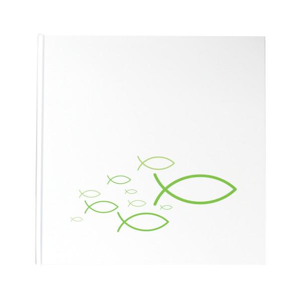 Gästebuch Fische Ichthys grün / hellgrün