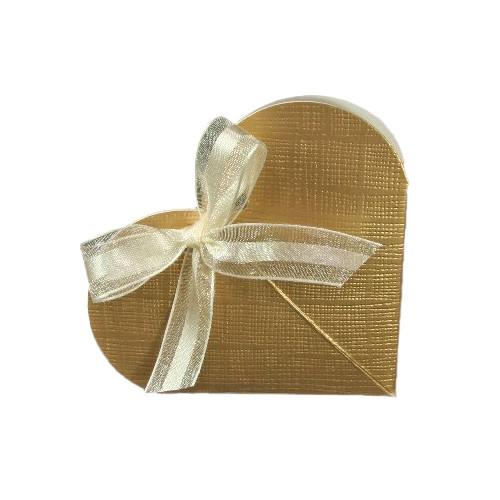 Kartonage 'Herz' - gold