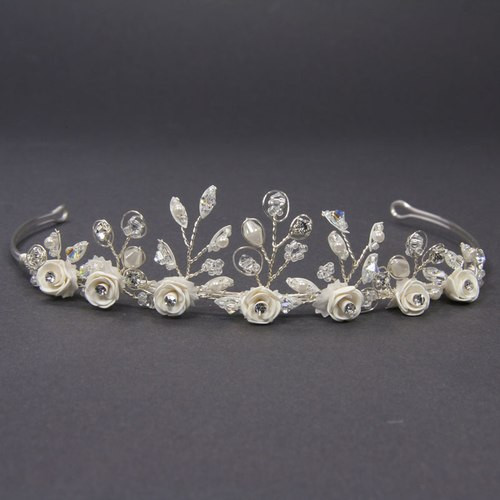 Diadem Porzellanblüten