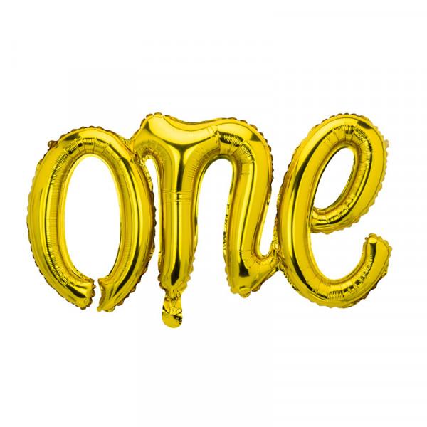 Folienballon 'one' 1. Geburtstag 66 cm - gold