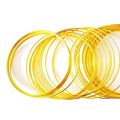 Basteldraht / Dekodraht 2 mm rund 12 m - Gold