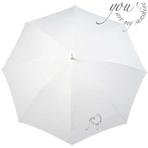 Wedding Regenschirm 'you are my sunshine' - creme