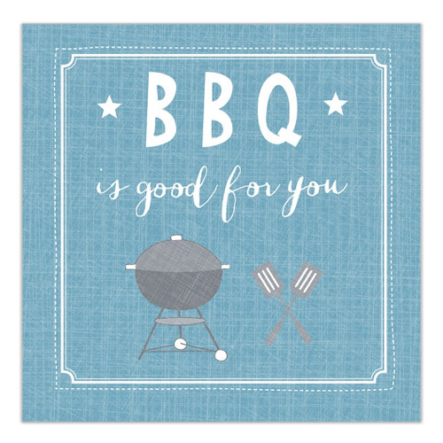 Servietten BBQ ist good for you (20 Stück) - blau