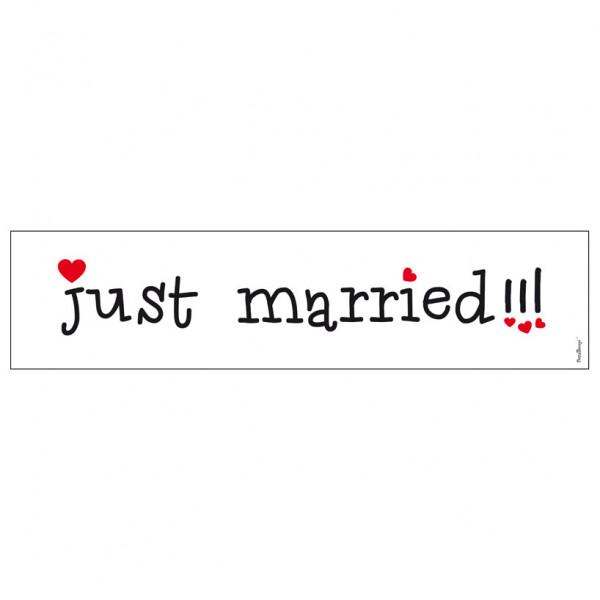 Autodekoration Nummernschild 'Just Married'