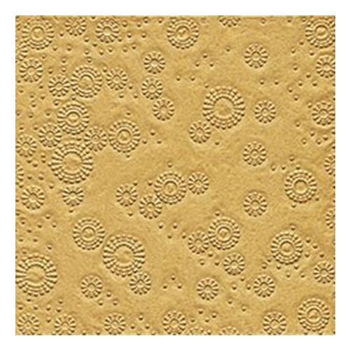 Servietten Moments geprägt (16 Stück) - gold
