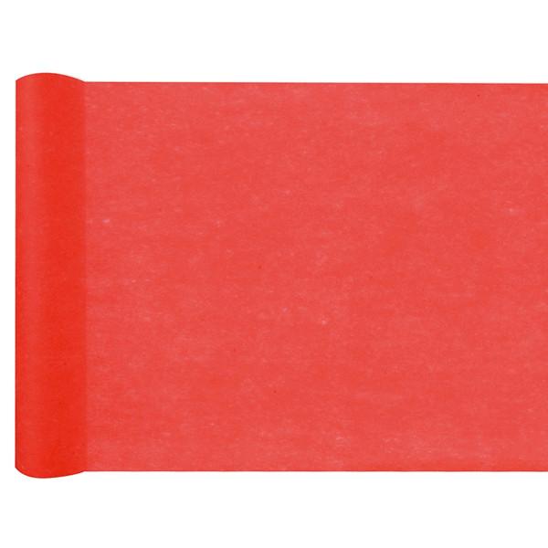 Tischläufer Vlies 30 cm x 25 m - rot