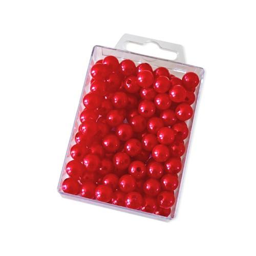 Dekoperlen zum Fädeln Rot 10 mm 115 Stück