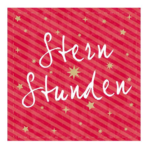 Servietten 'Sternstunden' (20 Stück) - rot
