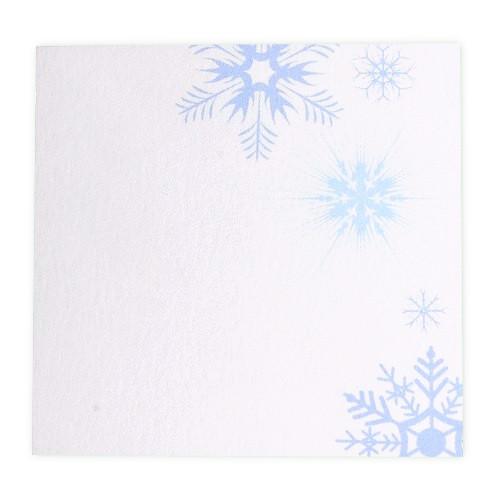 Tischkarte - Schneeflocken (1 Stück)