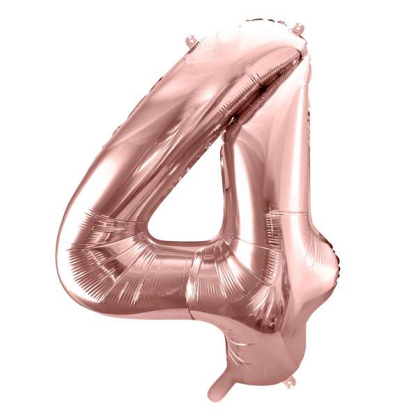 Folienballon '4' 86 cm - roségold