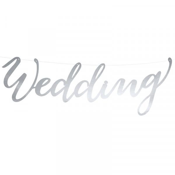Girlande Wedding 45 cm - silber