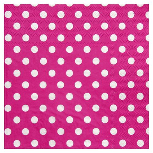 Servietten Dots / Punkte (20 Stück) - pink