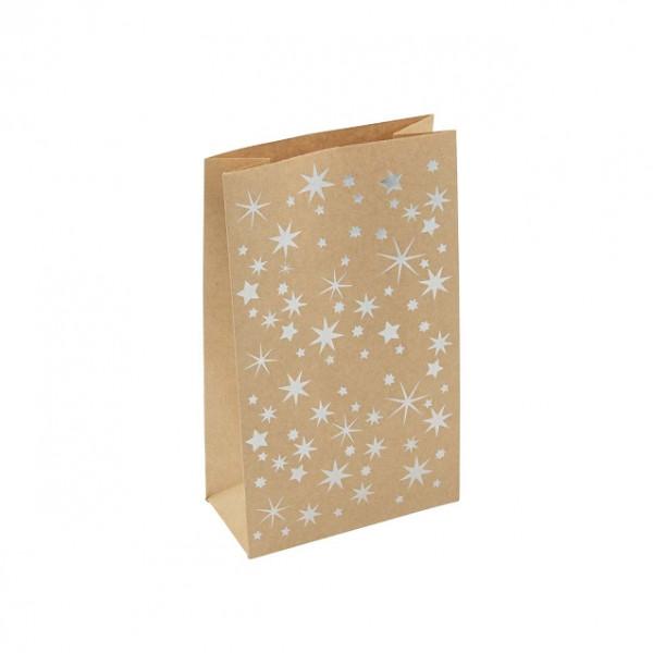 24 Geschenktüten / Adventskalender Tüten 'Sterne' - kraftpapier