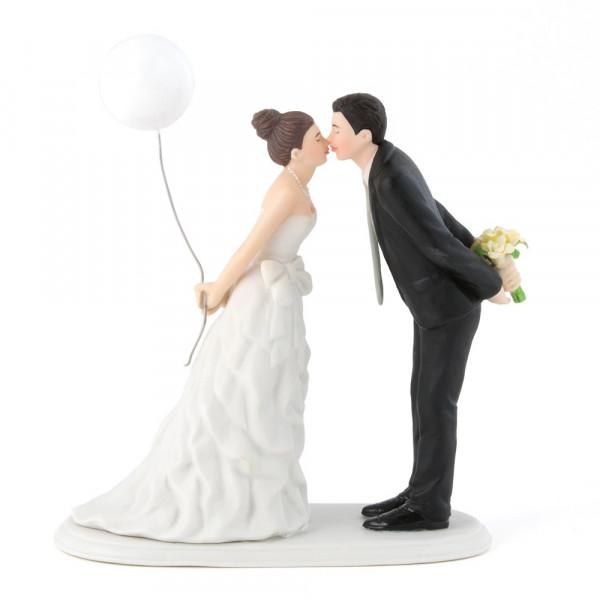 Tortenfigur Brautpaar mit Ballon