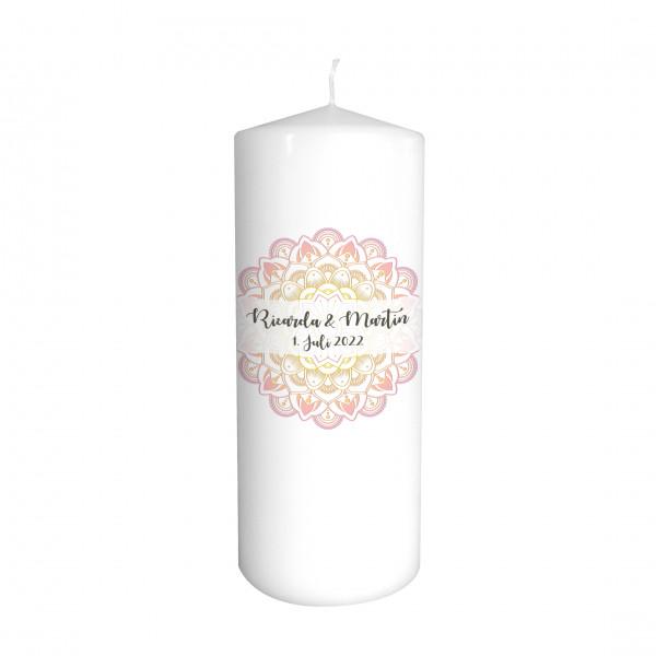Hochzeitskerze Mandala