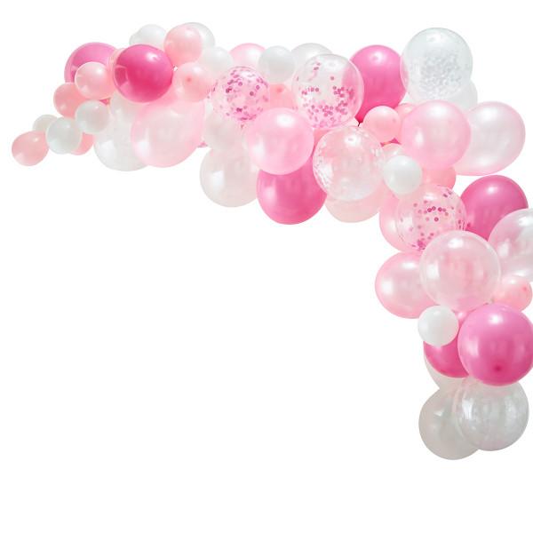 Ballon Girlande / Bogen 70 Stück pink