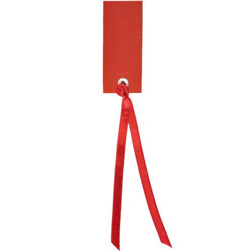 Tischkärtchen mit Satinband (12 Stück) - rot