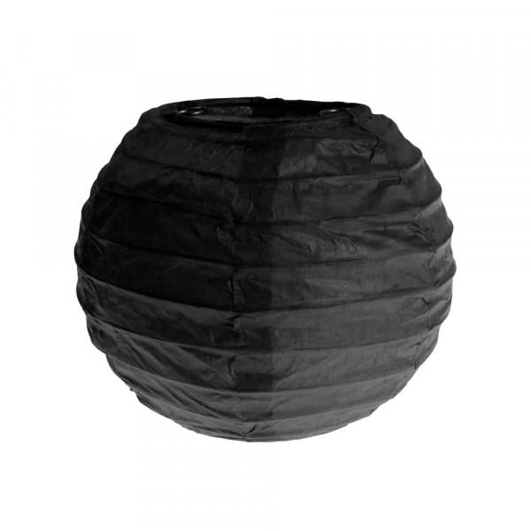 Laterne / Lampion rund 10 cm - schwarz (2 Stück)