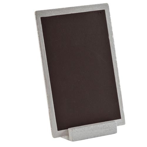 Tafel zum Stellen 10 x 15 cm - silber