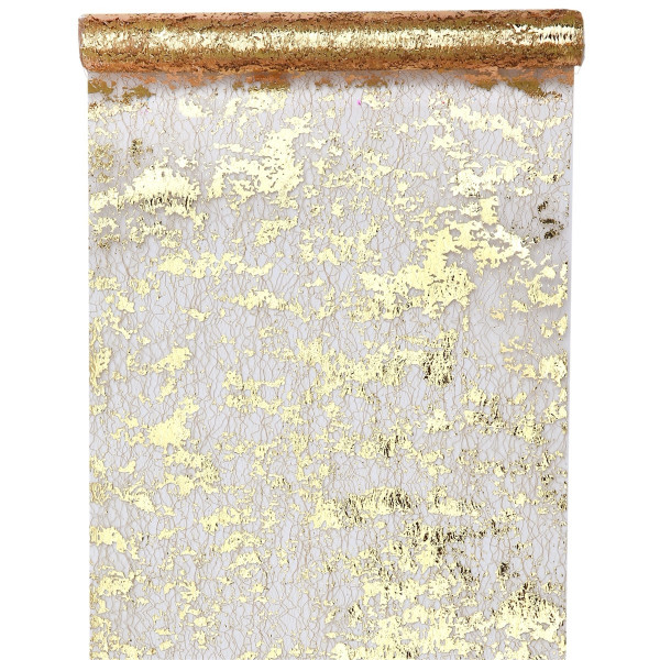 Tischläufer Fantasie gold 28 cm x 5 m