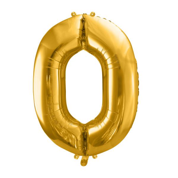 Folienballon '0' 86 cm - gold