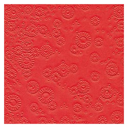 Servietten Moments geprägt (16 Stück) - rot