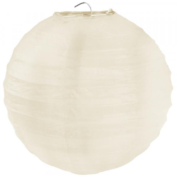Laterne / Lampion rund 30 cm - creme (2 Stück)