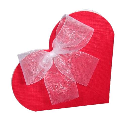 Kartonage 'Herz' - rot