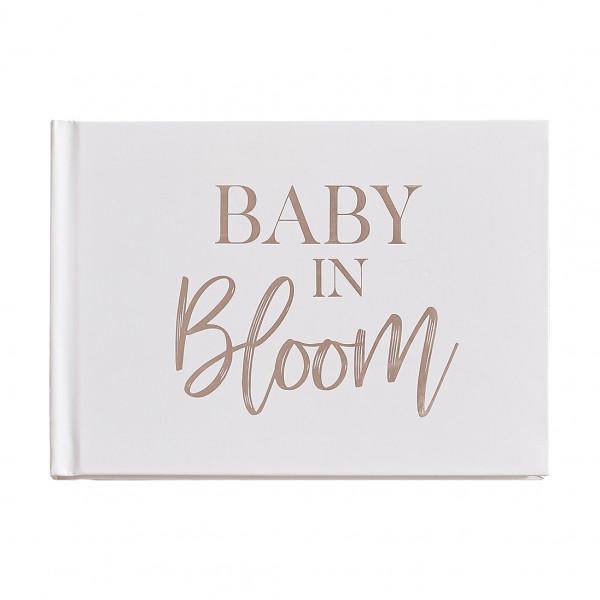 Baby in Bloom Gästebuch - hellrosa & roségold