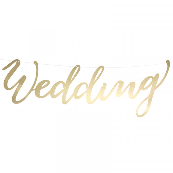 Girlande Wedding 45 cm - gold