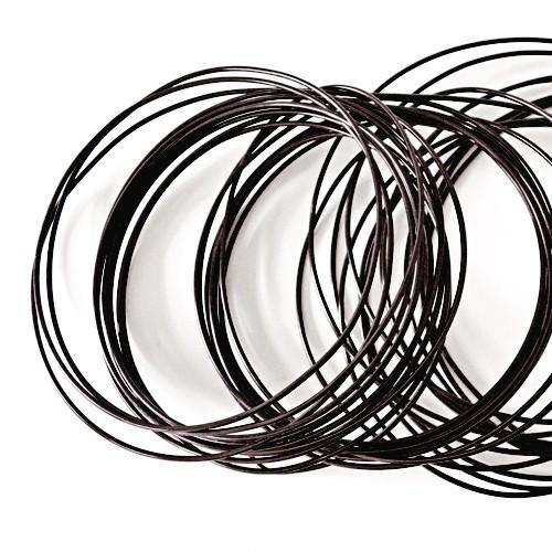 Basteldraht / Dekodraht 2 mm rund 12 m - Schwarz