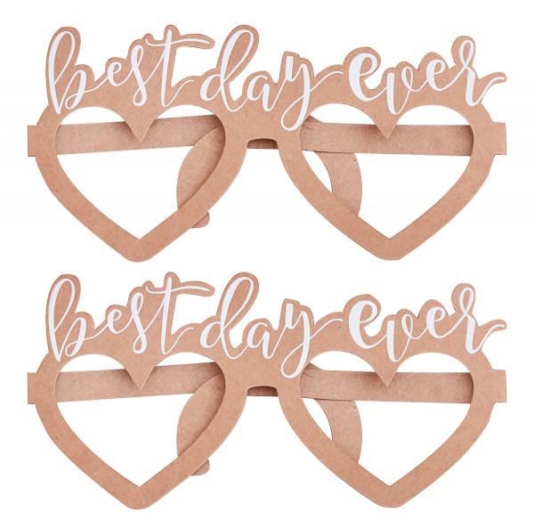 Brillen 'Best Day Ever' (8 Stück) - Kraftpapier