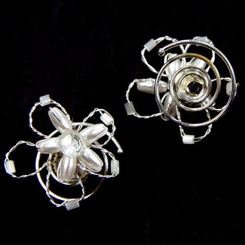 Curlies Blüte mit Perlen & Strass - 5 Stk.