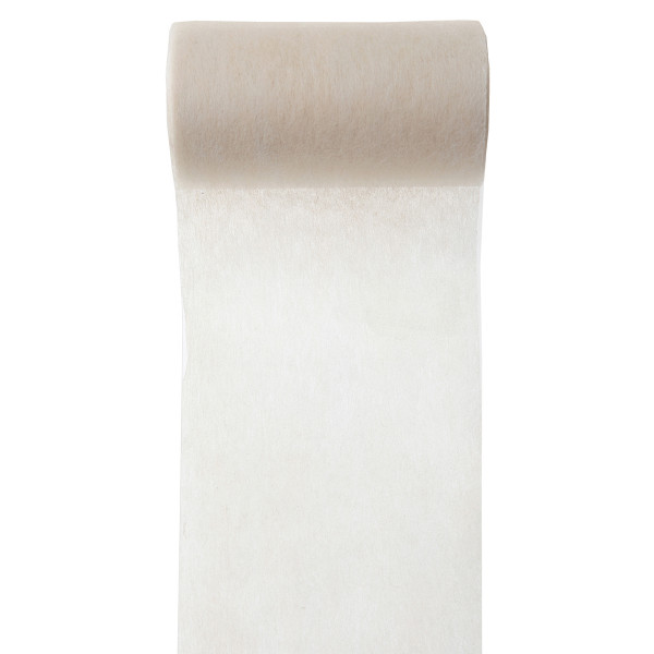 Servietten- / Tischband 10 cm x 10 m - creme