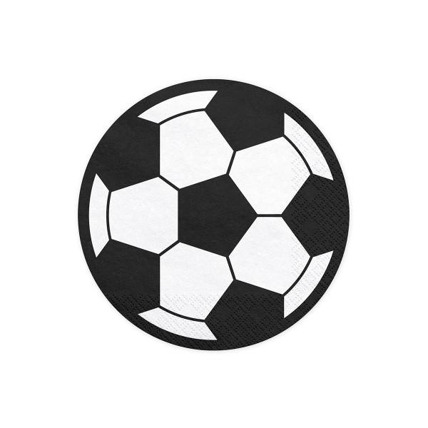 Fußball Party Servietten rund (20 Stück)