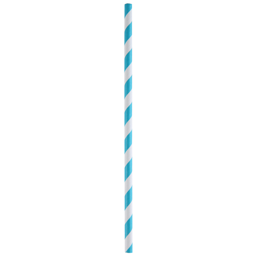 Strohhalme / Trinkhalme 'Streifen' (20 Stück) - türkis