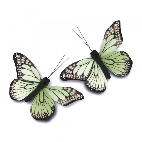 Schmetterlinge hellgrün (12 Stück)